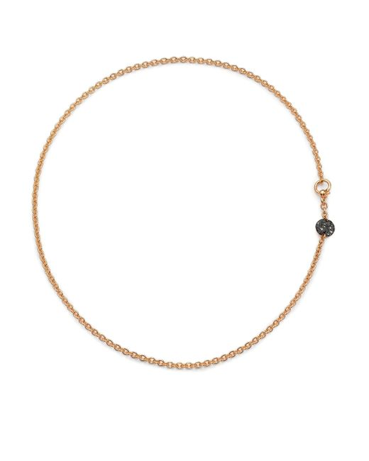 Pomellato | Pink Sabbia Black Diamond & 18k Rose Gold Necklace | Lyst