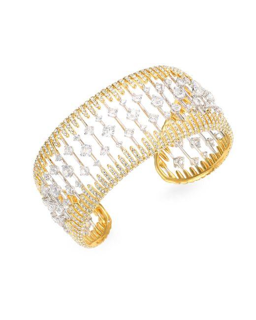 Adriana Orsini | Metallic Greta Crystal Cuff Bracelet | Lyst