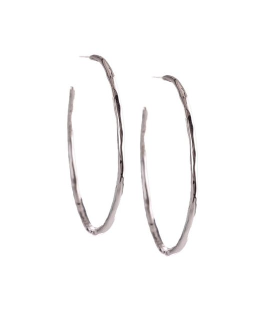 Ippolita | Metallic Glamazon Sterling Silver Squiggle #3 Hoop Earrings/1.7 for Men | Lyst