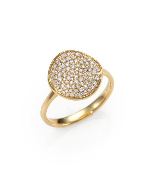 Ippolita | Metallic Stardust Diamond & 18k Yellow Gold Disc Ring | Lyst