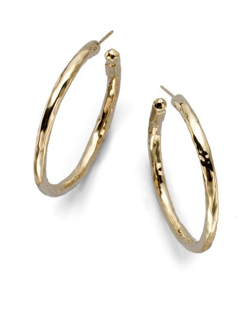 Ippolita | Metallic Glamazon 18k Yellow Gold #3 Hoop Earrings/1.5 | Lyst