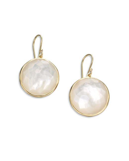 Ippolita   Metallic Lollipop Mother-of-pearl & 18k Yellow Gold Large Drop Earrings   Lyst