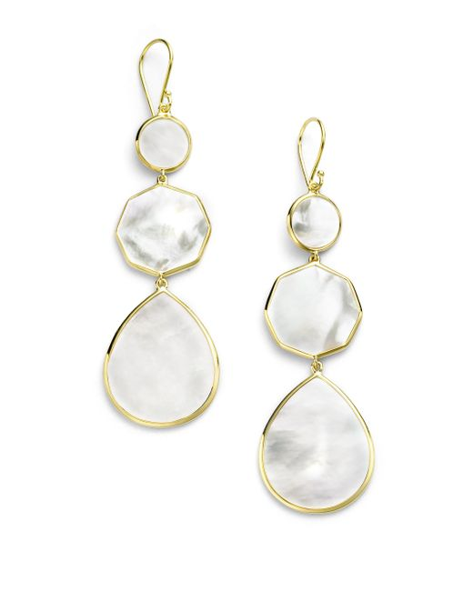 Ippolita | Metallic Polished Rock Candy Mother-of-pearl & 18k Yellow Gold Crazy 8's Drop Earrings | Lyst