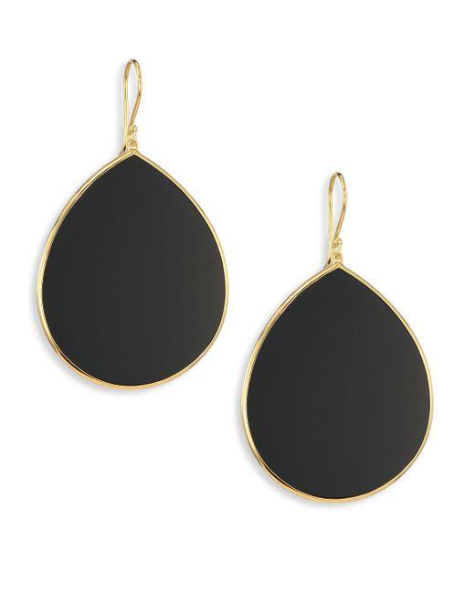 Ippolita | Black Onyx & 18k Yellow Gold Large Teardrop Earrings | Lyst