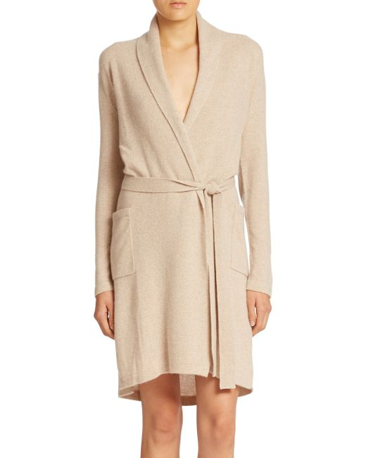 Sofia Cashmere | Natural Cashmere Jersey Robe | Lyst