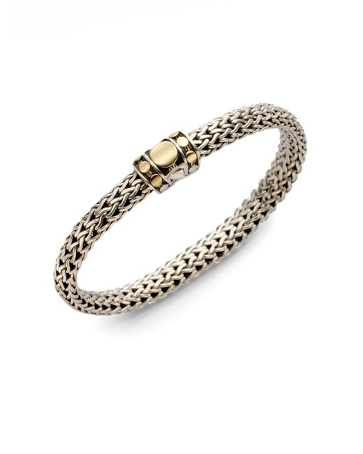John Hardy | Metallic Dot 18k Yellow Gold & Sterling Silver Chain Bracelet | Lyst