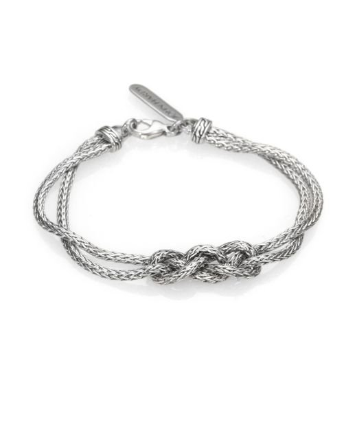 John Hardy | Metallic Classic Chain Sterling Silver Braided Knot Bracelet | Lyst