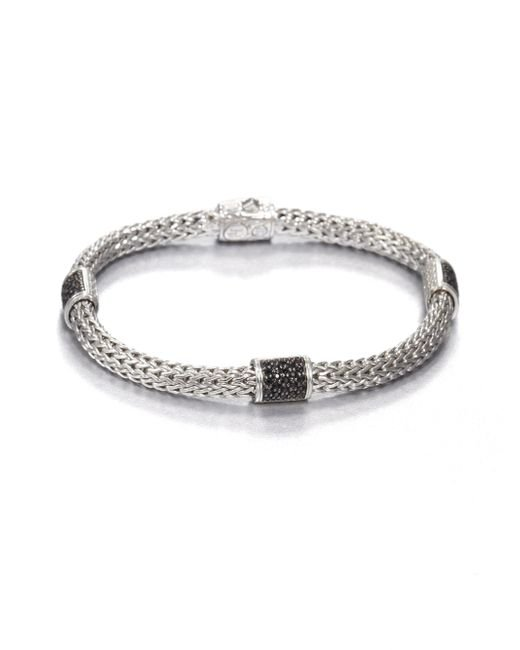 John Hardy | Metallic Classic Chain Black Sapphire & Sterling Silver Four-station Bracelet | Lyst