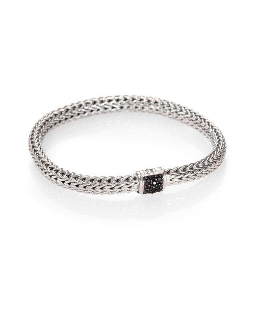 John Hardy | Metallic Classic Chain Black Sapphire & Sterling Silver Small Bracelet | Lyst