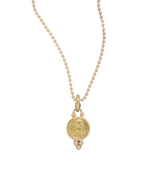 Temple St. Clair | Metallic Angel Diamond & 18k Yellow Gold Small Pendant | Lyst