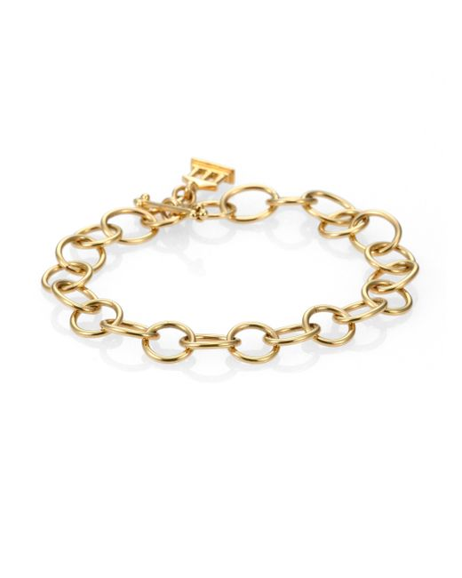 Temple St. Clair | Metallic 18k Yellow Gold Arno Chain Link Bracelet | Lyst