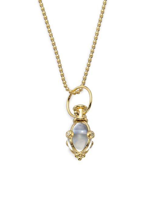 Temple St. Clair | Metallic Classic Rock Crystal, Diamond & 18k Yellow Gold Amulet | Lyst
