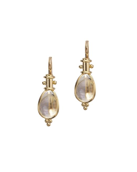 Temple St. Clair   Metallic Classic Rock Crystal & 18k Yellow Gold Amulet Drop Earrings   Lyst