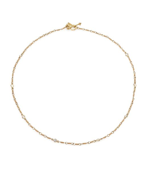Temple St. Clair | Metallic Classic Karina White Sapphire & 18k Yellow Gold Station Necklace | Lyst