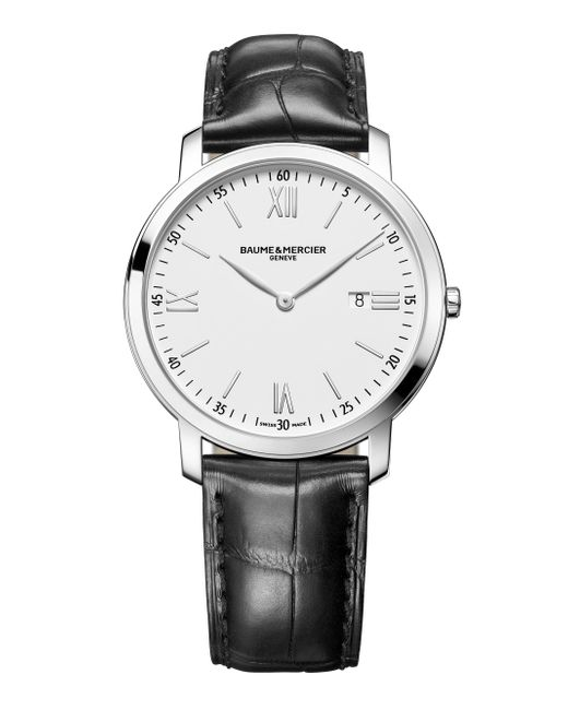 Baume & Mercier - Metallic Classima 10097 Stainless Steel & Alligator Strap Watch for Men - Lyst