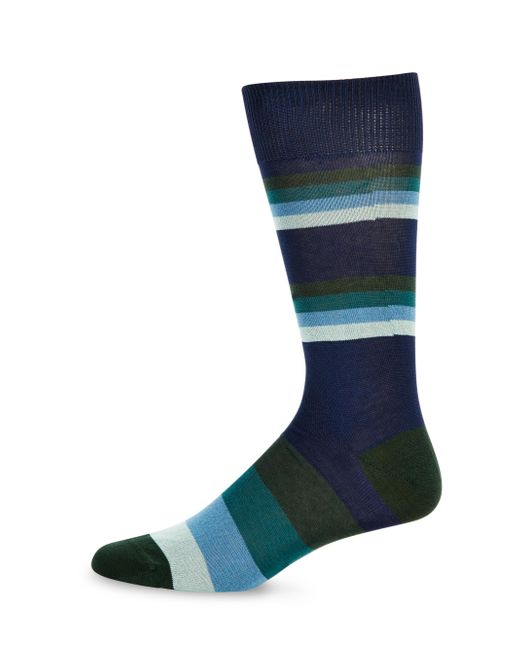 Paul Smith | Blue Striped Knitted Socks for Men | Lyst