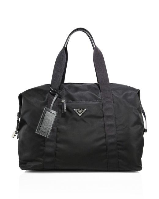 Prada - Black Sacca Weekender Duffle Bag for Men - Lyst