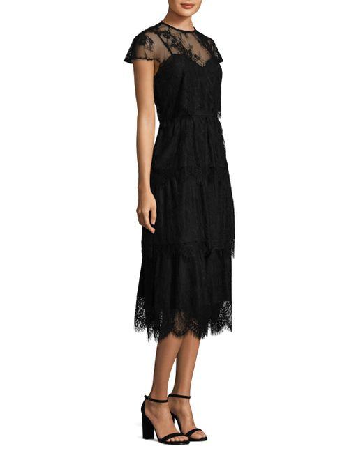 Parker Black | Black Elasa Embroidered Lace Dress | Lyst