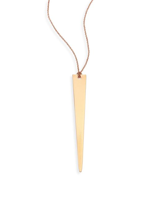 Ginette NY - Metallic Long Arrow 18k Rose Gold Pendant Necklace - Lyst