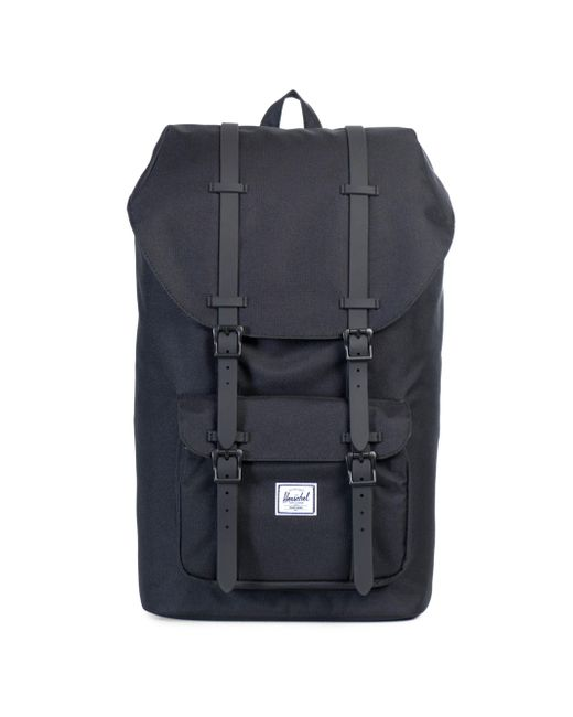 Herschel Supply Co. | Black Little America Leather And Canvas Blend Backpack for Men | Lyst