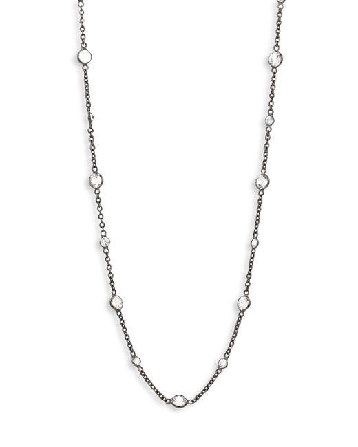 Annoushka   Metallic Nectar Night White Sapphire & 18k White Gold Jasmine Long Necklace   Lyst