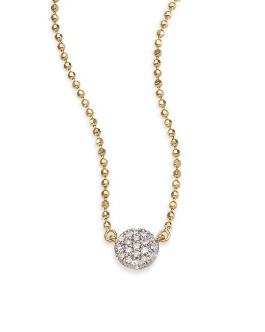 Phillips House - Metallic Diamond & 14k Yellow Gold Beaded Infinity Necklace - Lyst