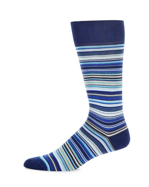 Paul Smith | Blue Multicolor Stripe Mid-calf Socks for Men | Lyst