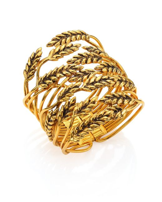 Aurelie Bidermann - Metallic Wheat Cuff Bracelet - Lyst