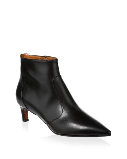 Aquatalia Marilisa Leather Point-Toe Ankle Boots yjUPGi