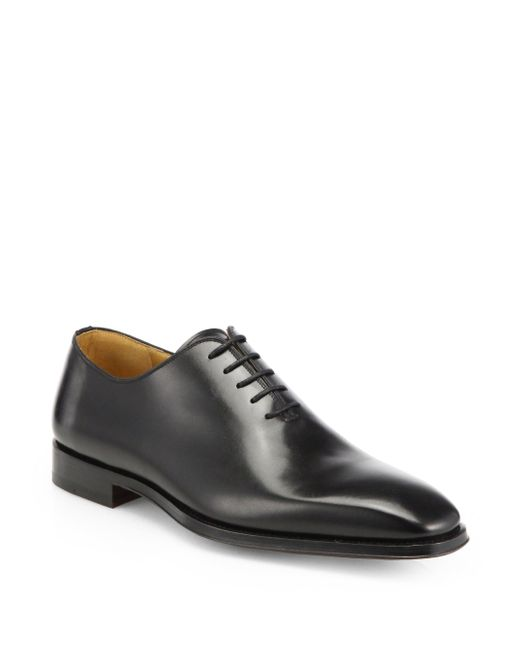 Saks Fifth Avenue - Black Saks Fifth Avenue By Magnanni Leather Balmoral Shoes for Men - Lyst