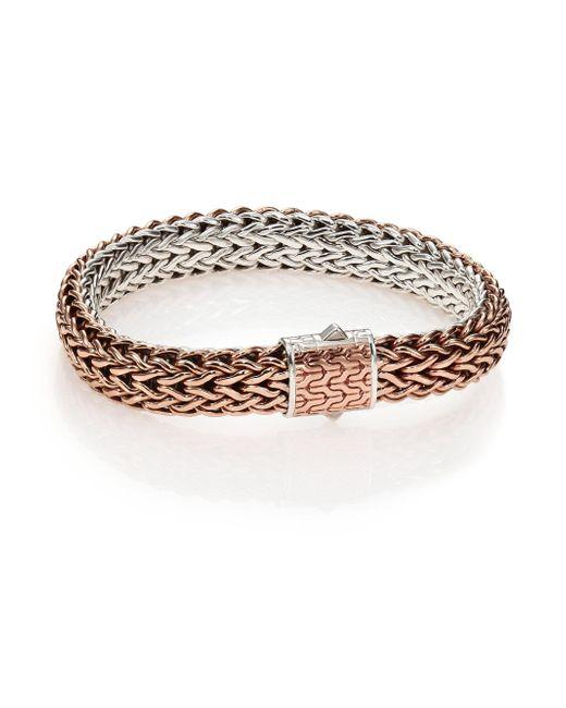 John Hardy | Metallic Classic Bronze & Silver Reversible Chain Bracelet | Lyst