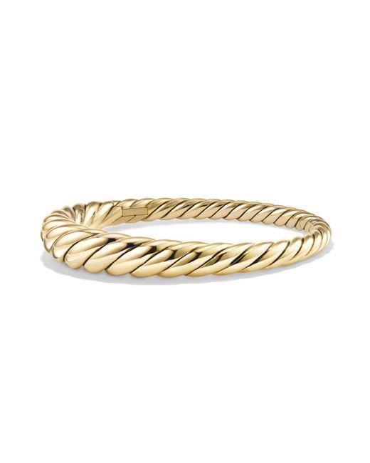 David Yurman | Metallic Pure Form Cable Bracelet In 18k Yellow Gold | Lyst