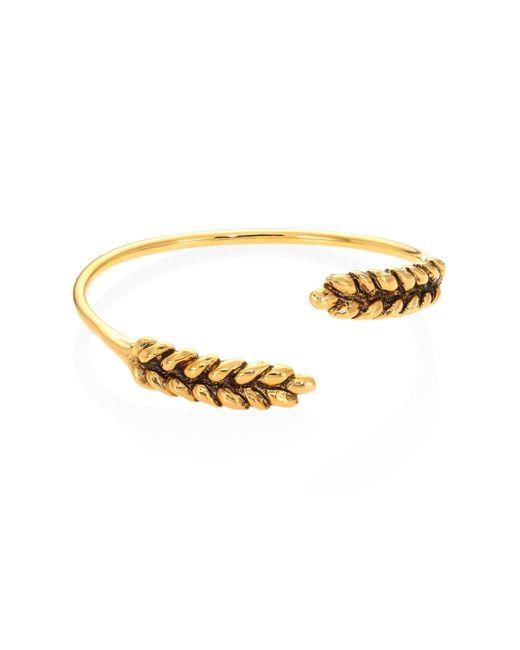 Aurelie Bidermann - Metallic Two Cobs Wheat Bangle Bracelet - Lyst