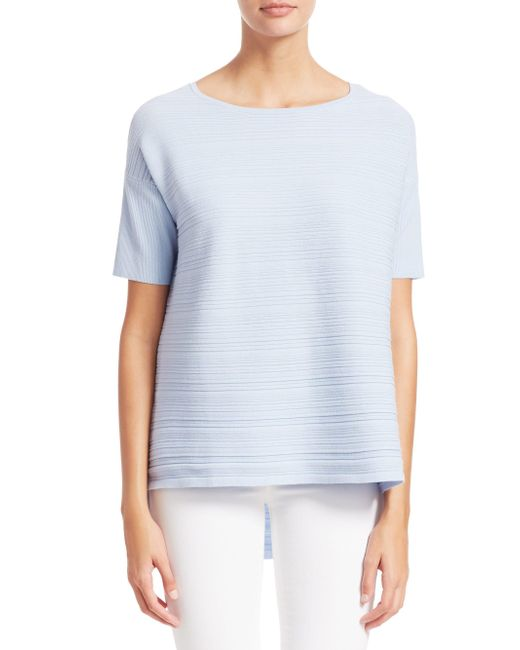 Saks Fifth Avenue Blue Collection Textured Short Sleeve Pullover