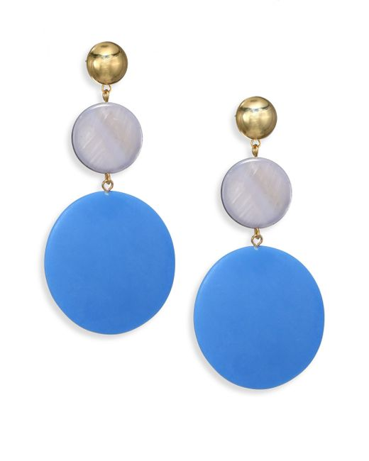 Elizabeth and James | Blue Carter Mother-of-pearl Drop Earrings | Lyst