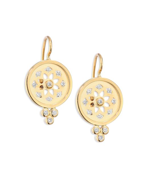 Temple St. Clair | Metallic Mandala Diamond & 18k Yellow Gold Cutout Earrings | Lyst