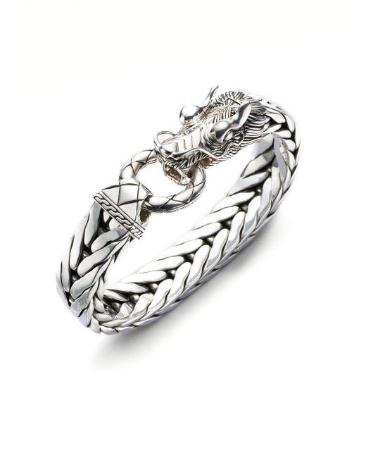John Hardy - Metallic Dragon Chain Silver Bracelet for Men - Lyst