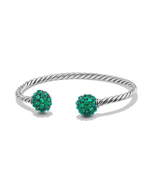 David Yurman | Green Osetra End Station Bracelet With Faceted Gemstones | Lyst
