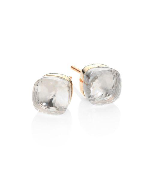 Pomellato - Metallic Topaz, 18k Rose & White Gold Stud Earrings - Lyst