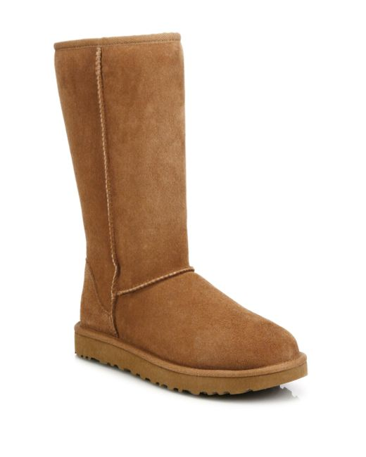 Ugg - Brown Classic Tall Suede Boots - Lyst