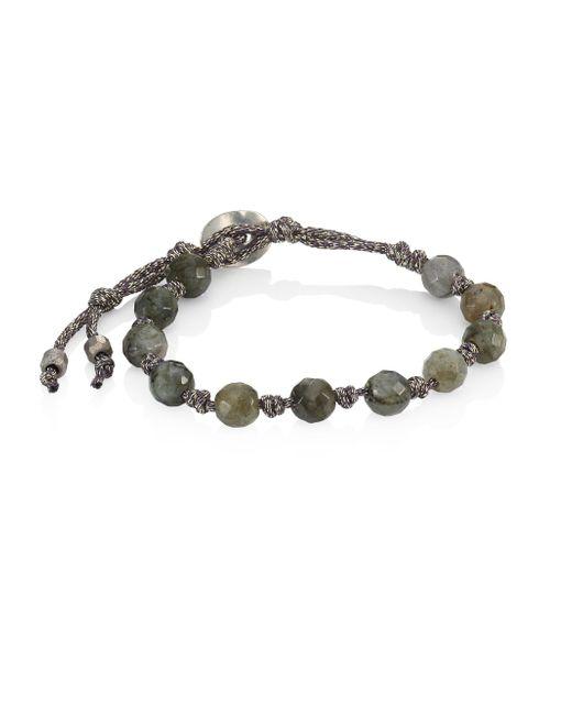 Chan Luu - Metallic Onyx Bead Bracelet - Lyst