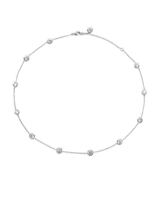 Adriana Orsini - Metallic Bezel-set Stationed Necklace - Lyst