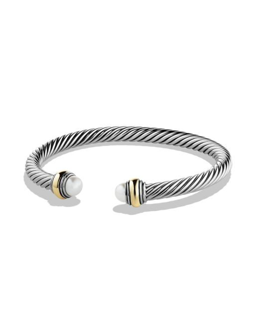 David Yurman - Metallic Women's Cable Classics Bracelet With Pearl And Gold - Pearl - Lyst