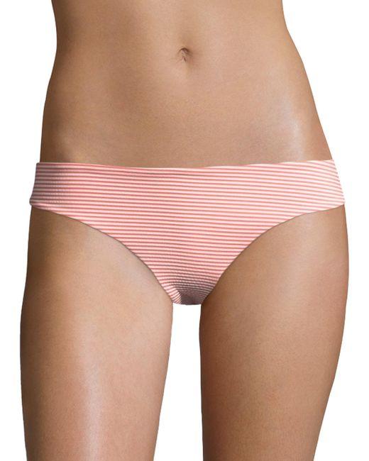 Onia - Pink Lily Striped Seersucker Bikini Bottom - Lyst