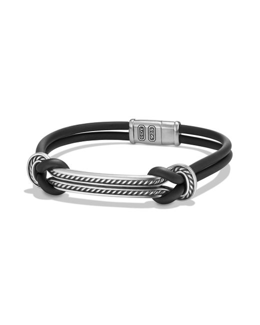 David Yurman   Metallic Maritime Leather & Sterling Silver Bracelet   Lyst