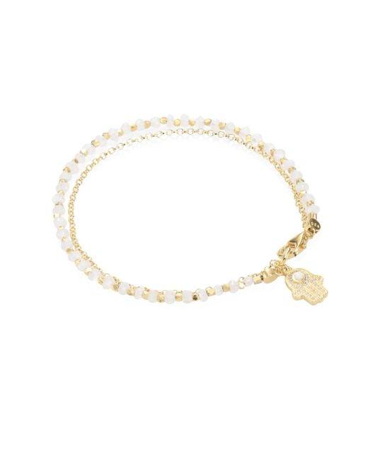 Astley Clarke - Biography Moonstone & White Sapphire Hamsa Bracelet - Lyst