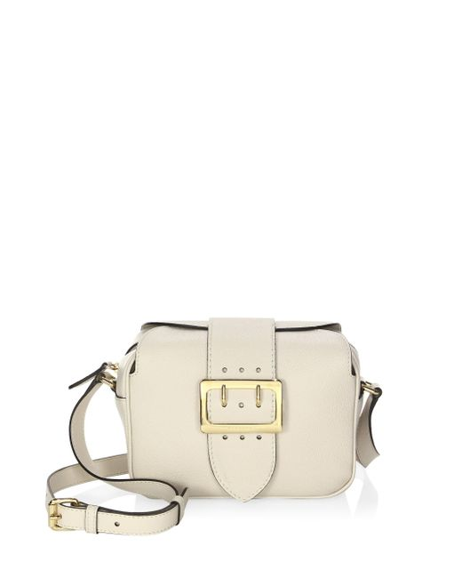 Burberry - Natural Zip Buckle Leather Crossbody Bag - Lyst
