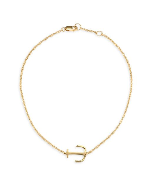 Jennifer Zeuner - Metallic Alexa Anchor 18k Yellow Gold Vermeil Anklet - Lyst