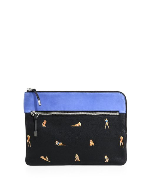 Alexander Wang | Black Leather Ipad Pouch for Men | Lyst
