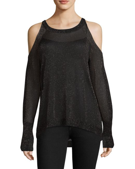 Ramy Brook | Black Tasha Cold Shoulder Sweater | Lyst